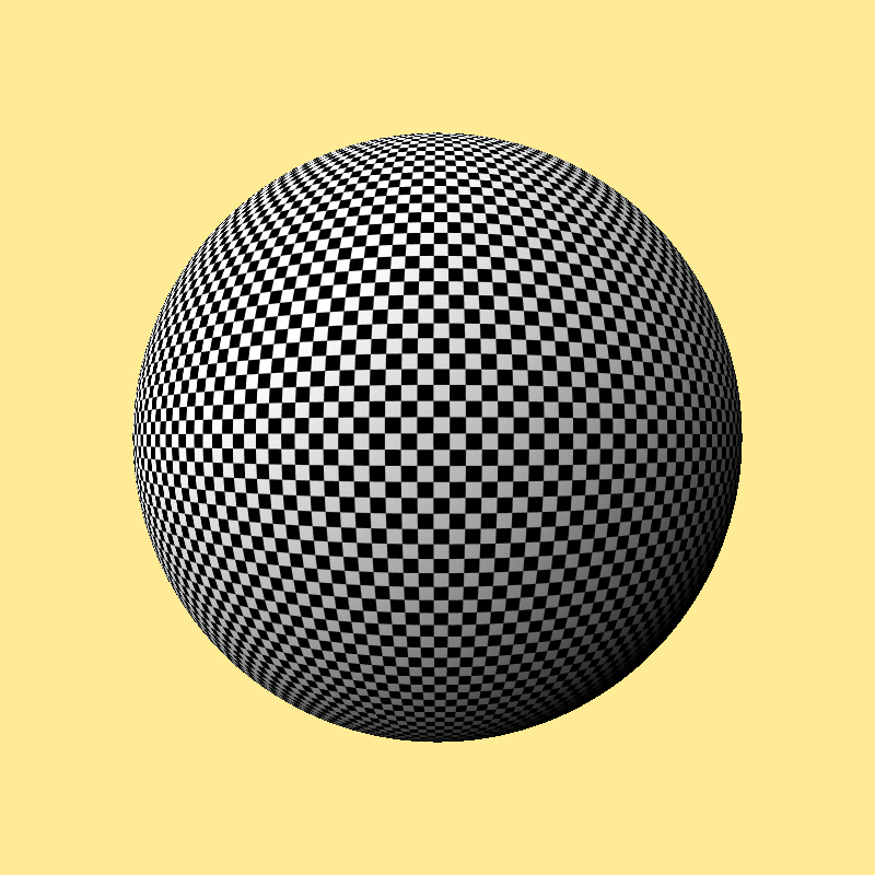 Big checkerboard sphere