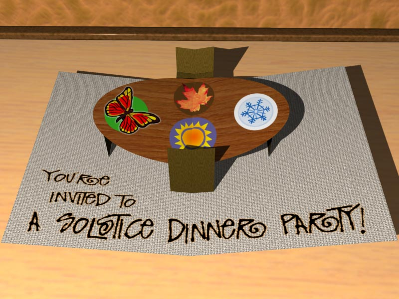 Dinner Party Pop-up Card
